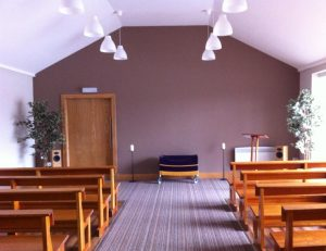 The service chapel at Fosters Funeral Directors