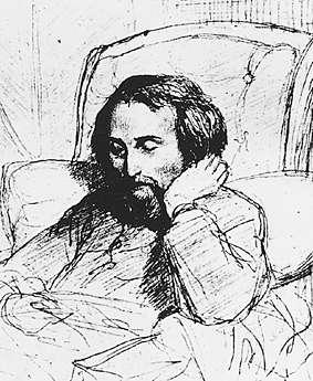Heinrich Heine on his deathbed