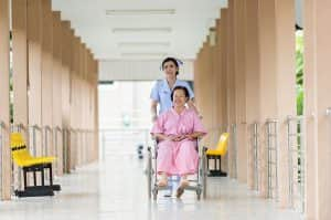 A healthcare professional providing end of life care