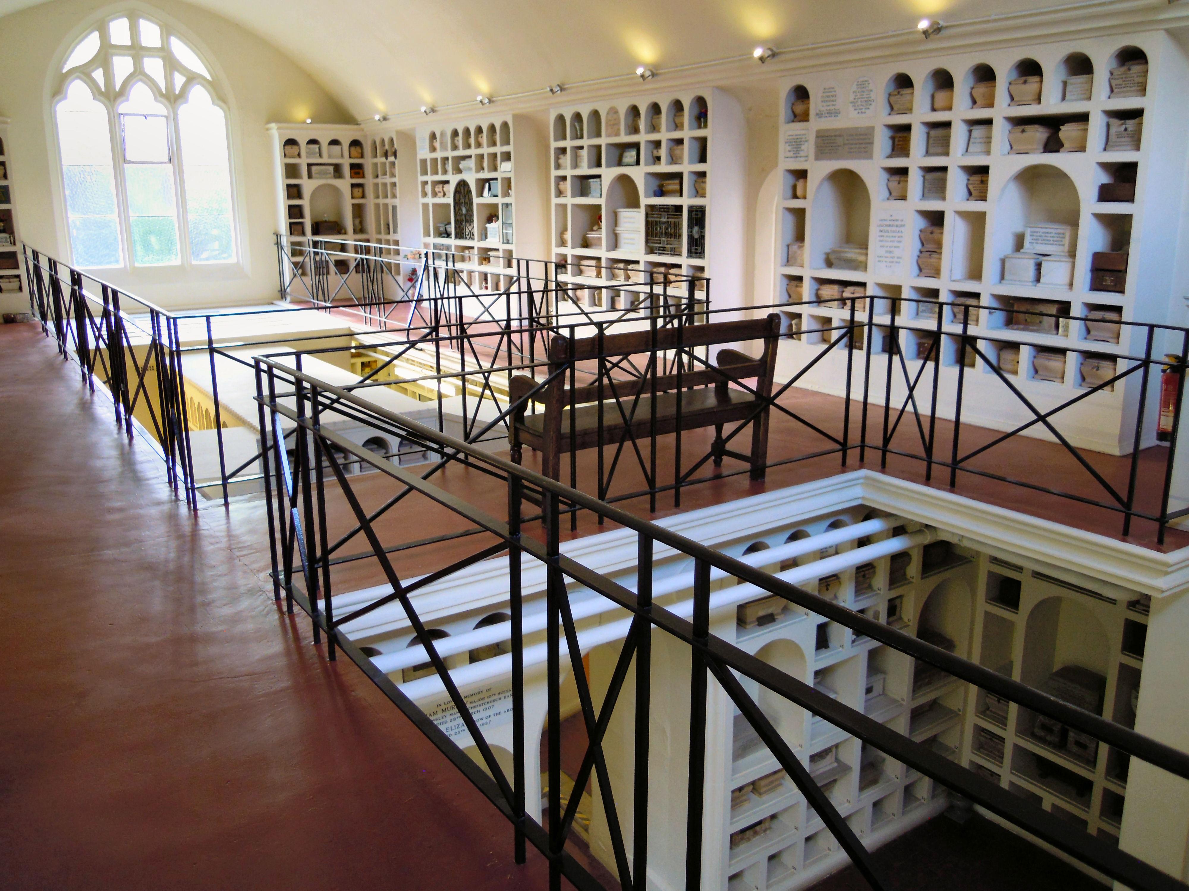 The columbarium at Woking Crematorium
