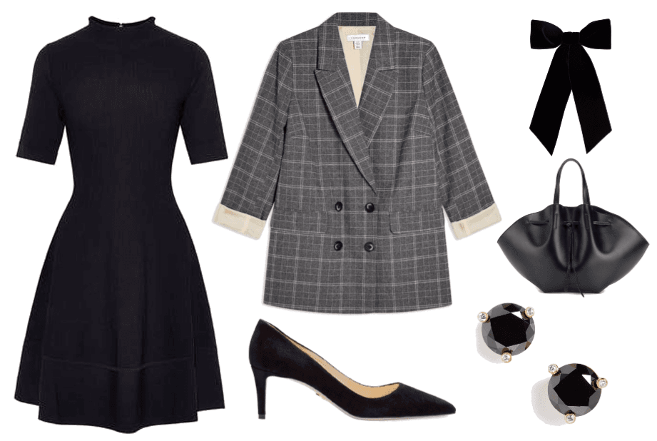 Easy funeral outfit with black dress